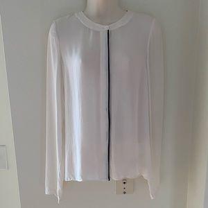 ALC Long Sleeve Silk Button Down Blouse, Size XS